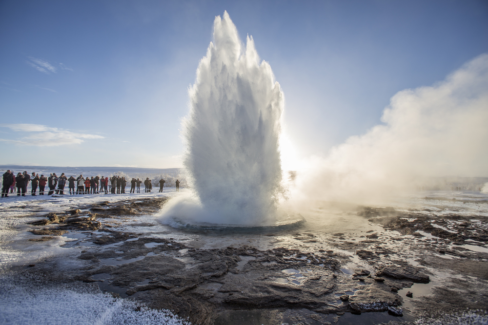Strokkur geyser on the Golden Circle during 5 days in Iceland