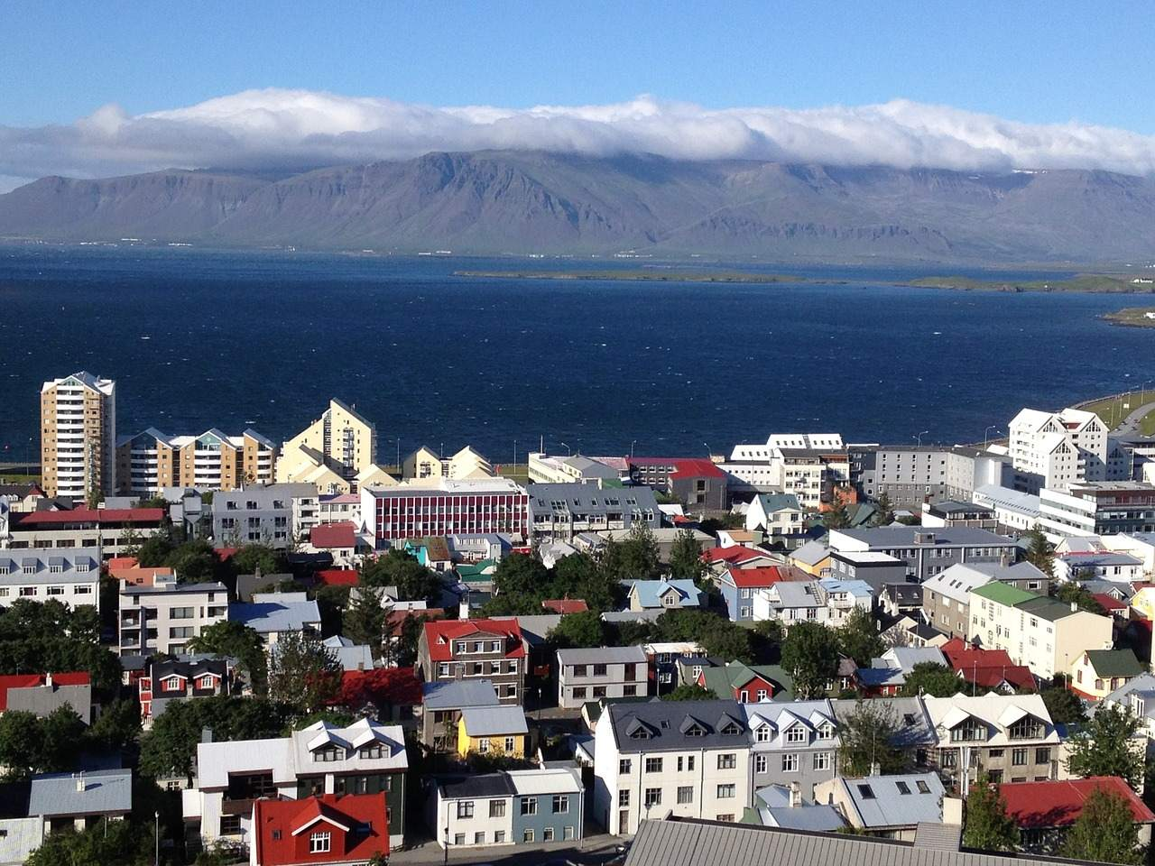 Reykjavik from bird eye view